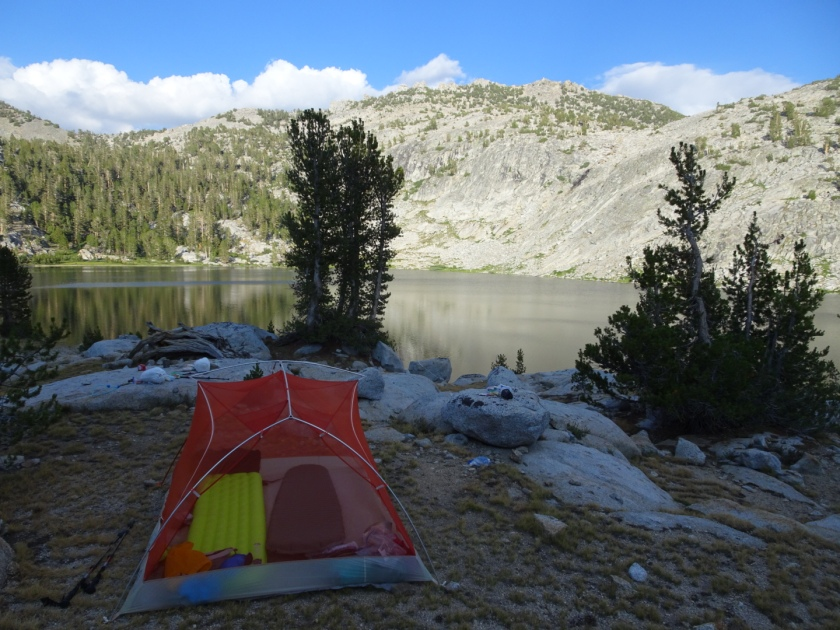 Sierra High Route Day 3: Upper Glacier Lake to Marion – Is